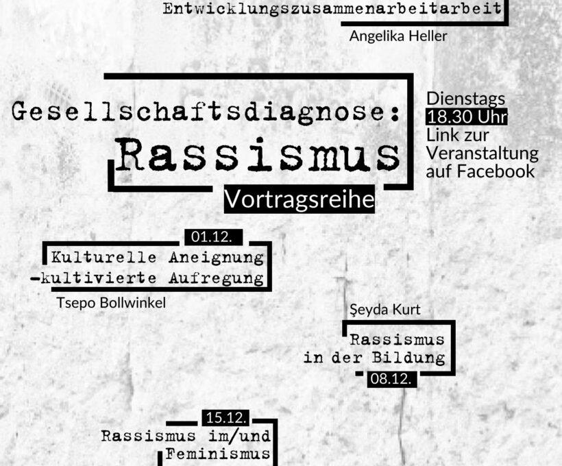 """Vortragsreihe """"Gesellschaftsdiagnose: Rassismus"""""""